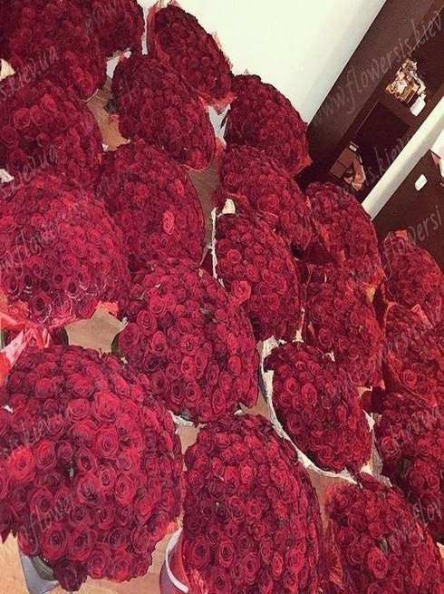 To order 10 000 roses Kiev, Buy the biggest bouquet of roses, Flowers is