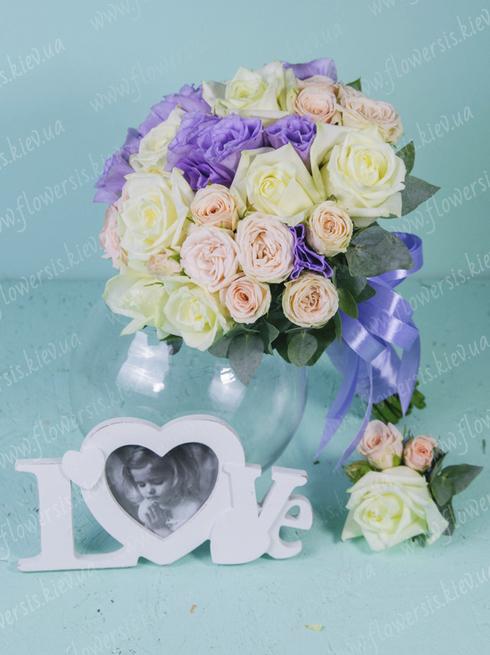 Букет невесты сердце из роз фото — 9
